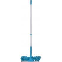 """Телескопічна швабра для миття вікон """"Локшина"""", ECONOMIX CLEANING, 120 см, блакитна"""