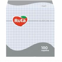 Серветки Ruta одношарові 24х24см голубі 100шт