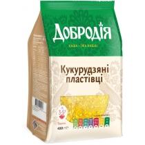 Пластівці Кукурудзяні Добродія 400г (ПП)