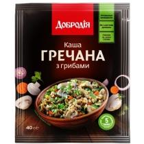 """Каша """"Гречана з грибами"""" Добродія швидкого приготування 40г (ПП)"""