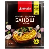 Каша кукурудзяна  «Банош з грибами» Добродія швидкого приготування 40г (ПП)