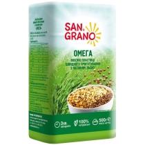 Пластівці вівсяні San Grano Омега з насінням льону ШП 500г (БП)