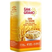 Суміш пластівців San Grano Сила 3-х злаків 500г (БП)