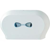 Тримач туалетного паперу на два рулони Mar Plast Jumbo, пластик білий
