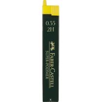 ?Грифель для механічного олівця Faber-Castell Super-Polymer 2Н (0,3 / 0.35 мм), 12 штук в пеналі
