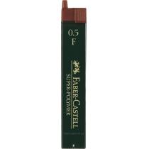 ?Грифель для механічного олівця Faber-Castell Super-Polymer F (0,5 мм), 12 штук в пеналі