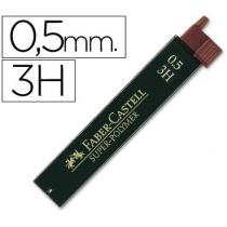 Грифель для механічного олівця Faber-Castell Super-Polymer 3Н (0,5 мм), 12 штук в пеналі
