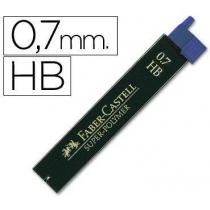 Грифель для механічного олівця Faber-Castell Super-Polymer НВ (0,7 мм), 12 штук в пеналі