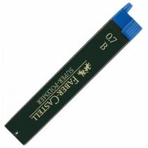 Грифель для механічного олівця Faber-Castell Super-Polymer В (0,7 мм), 12 штук в пеналі