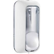 Дозатор рідкого мила PLUS 0.55 л , білий/прозорий, пластик