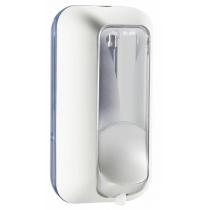Дозатор рідкого мила-піни PLUS 0.55 л, білий/прозорий, пластик