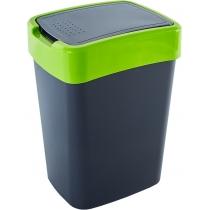 """Відро Алеана """"Євро"""" для сміття 10л.,  граніт/оливк."""