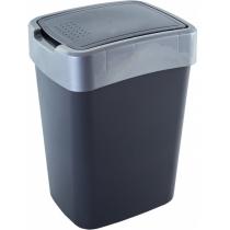 """Відро Алеана """"Євро"""" для сміття 45л.,  граніт/сіре"""