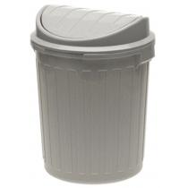 """Відро для сміття """"MINI - SWING"""" 7л, срібло"""