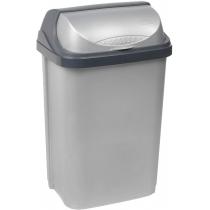 """Відро для сміття """"ROLLTOP""""  10л срiбло"""