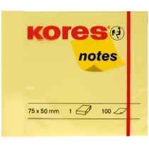 Стікери Kores, 50х40, світло-жовті, 100 арк. упаковка 3 блоки