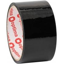 Стрічка клейка пакувальна (скотч) Optima, чорна, 48мм*30м