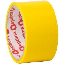 Стрічка клейка пакувальна (скотч) Optima, жовта, 48мм*30м