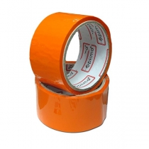 Стрічка клейка пакувальна (скотч) Optima, оранжевая, 48мм*30м