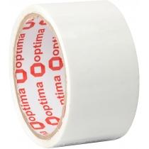 Стрічка клейка пакувальна (скотч) Optima, біла, 48мм*30м