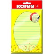 Стікери в лінію Kores, 150х100, світло-жовті лінійка, 100 арк.