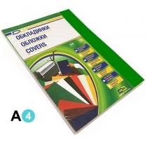 Обкладинка картон під шкіру А4 100 штук 230 г/м2 зелена