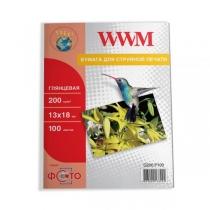 Фотопапір WWM 13х18см, глянцевий, 200 г/м2, 100 арк.