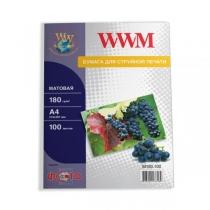 Фотопапір WWM A4, матовий, 180 г/м2, 100 арк.