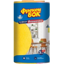 Серветка віскоза 5 + 1 (4 + 2) шт Фламенко Фрекен Бок