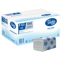 Рушники паперові 1 шар V складання ТІША, 200 шт, сірі