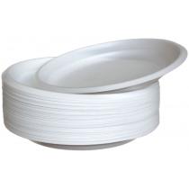 Тарілки одноразові білі діаметр 20,5 см 100 шт