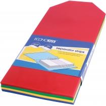 Роздільник аркушів 240*105 мм Economix, пластик, кольоровий, 100 шт.