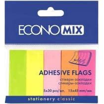 Стікери-закладки Economix, 15х45, паперові