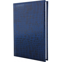 Щоденник недатований, А6, Croco, синій