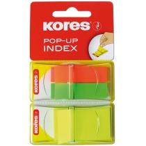Стікери-закладки Kores, 45х12*2 и 45х25, пластикові