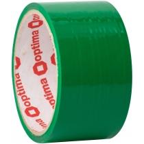 Стрічка клейка пакувальна (скотч) Optima, зеленая, 48мм*30м
