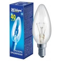 Лампа свічка 40W E14 В36 прозора, ІСКРА