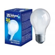 Лампа стандартна 40W Е27 А55 матова, ІСКРА