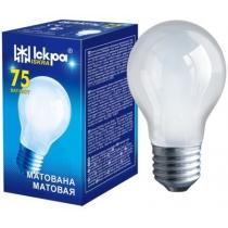 Лампа стандартна 75W Е27 А55 матова, ІСКРА
