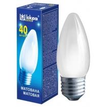 Лампа свічка 40W Е27 В36 матова, ІСКРА
