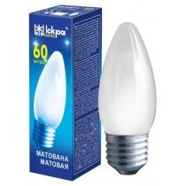 Лампа свічка 60W Е27 В36 матова, ІСКРА