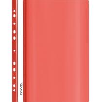 Папка-швидкозшивач глянець А5 з перфорацією червоний