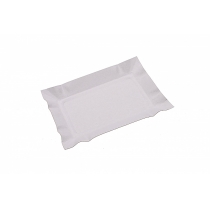 Тарілка паперова біла 14х20 см 100 шт