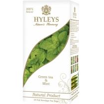 Чай зелений з м'ятою пакетований Hyleys 25шт х 1,5г