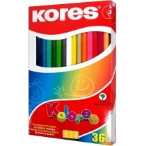 Олівці кольорові, 36 кольорів, з чинкою, 2 метал.кол.