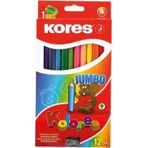 Олівці кольорові Jumbo, 12 кольорів