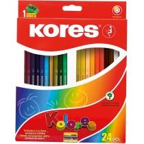 Олівці кольорові, 24 кольори