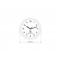 Годинник настінний настінний ROLLO, срібло