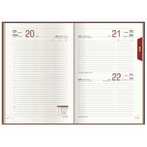 Щоденник датований 2020, NEBRASKA , білий металік, А5