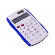 Калькулятор кишеньковий Optima 8 розрядів, розмір 123*77*14 мм, біло-синій